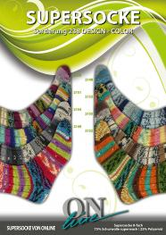 ONline Supersocke 8-fach 150g Sort. 238 Design-Color 2153 - Rosa/Gelb/Orange/Opal