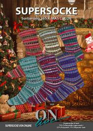 ONline Supersocke Sort. 265 X-MAS Color mit Glitzer 100g