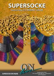 ONline Supersocke 6-fach 150g Sort. 274 Merino-Color 2398  schwarz/anthrazit