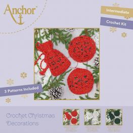 ANCHOR Häkelset 2 ROT/GOLD Metallic Christmas