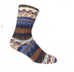 ONline Supersocke Sort. 281 Bamboo Silk-Color 100g 2440 - Braun/Blau