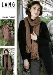 Flyer - Schal aus Lang Yarns Magic Tweed