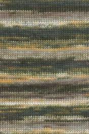 Lang Yarns Mille Colori 200 G 946.0098 - Olive/Hellbraun/Gelb