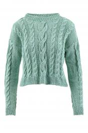 Sweater Crazy Cables aus WOOLADDICTS Sunshine