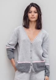 Cardigan aus Cool Wool Big Melange