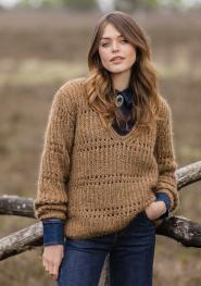 Pullover aus Mary's Tweed/Silkhair