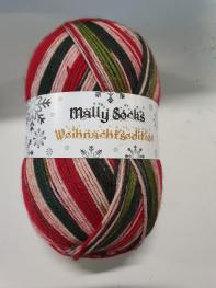 Ferner Wolle Mally Socks Weihnachtsedition 6-fach 20 - Rot
