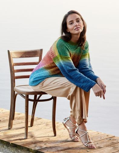 Pullover aus Cool Wool Lace Hand-Dyed