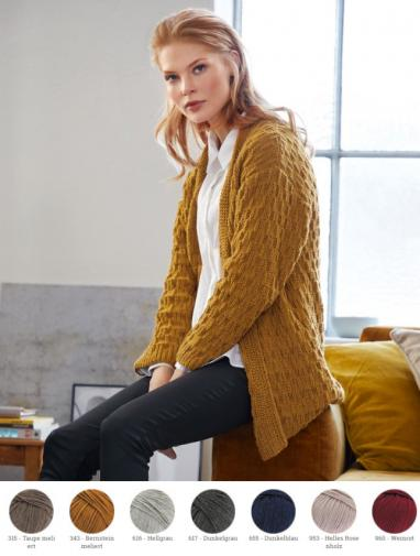 Cardigan aus Cool Wool Big (Melange)