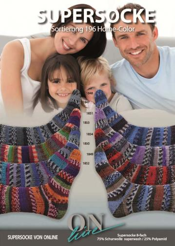ONline Supersocke 8-fach 150g Sort. 196 Home Color
