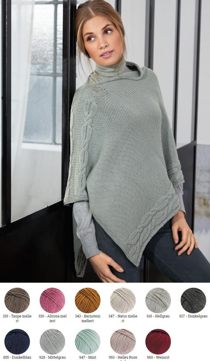 Werksverkauf Niedriger Verkaufspreis wo zu kaufen Poncho aus Cool Wool Big (Melange)